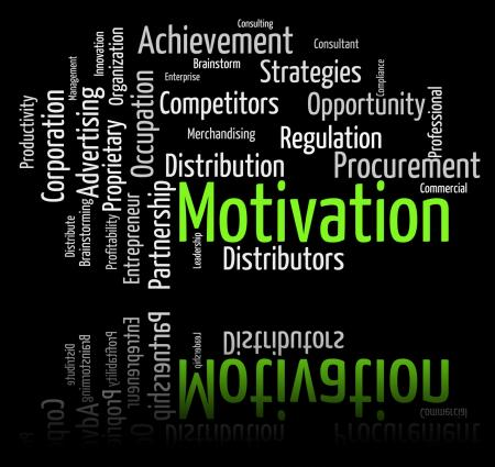 Motivation Word Shows Do It Now And Motivate