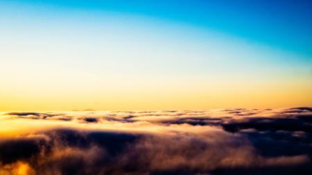Mt. Diablo peeking above the fog