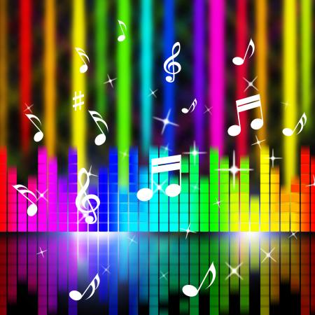 Music Background Means Playing Songs And Sounds