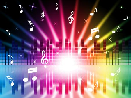 Music Colors Background Shows Instruments Songs And Frequencies