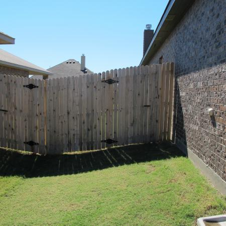 near the fence
