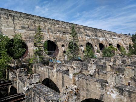 Old abandoned dam