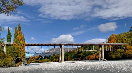 Old Lower Shotover Bridge. Queenstown. NZ