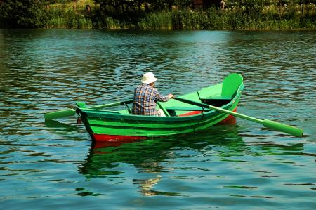 Old man in the boat