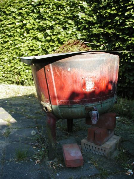 Old watertank used as a barbeque