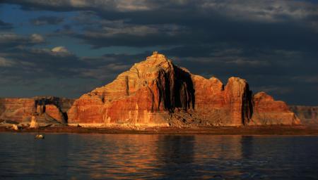 On Lake Powell Utah.
