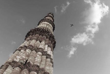 On the Sky, The Qutub Minar