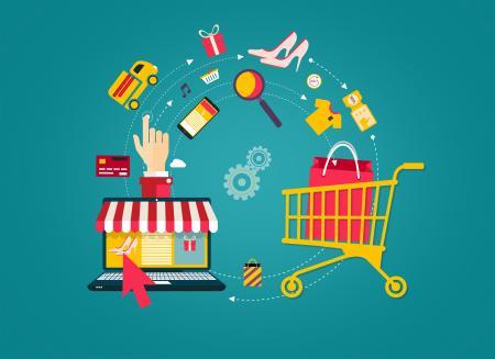 Online Shopping - Laptop to Shopping Cart
