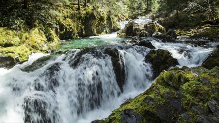 Opal Pool Falls, Oregon
