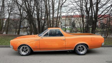 Orange Chevrolet El Camino
