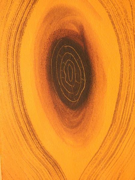 Orange Wood Grain Background