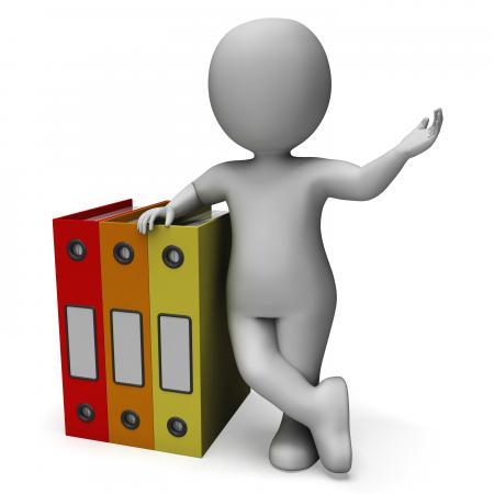 Organizing Clerk Shows Organized Records