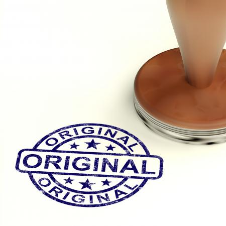 Original Stamp Showing Genuine Authentic Products