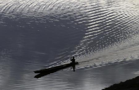 Paddling on the Mekong