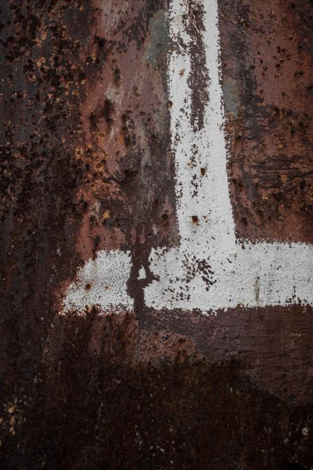 Paint on Rusted Metal