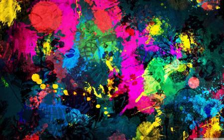 Random Paint Splatter