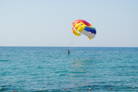 Parachuting over the Ocean