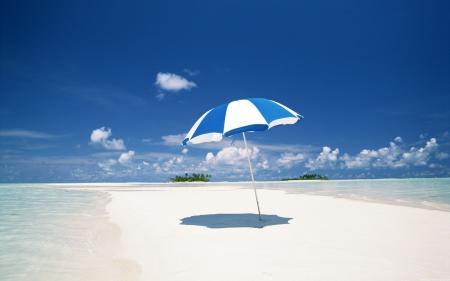 Parasol on beach