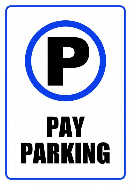 Pay Parking Zone - Sign
