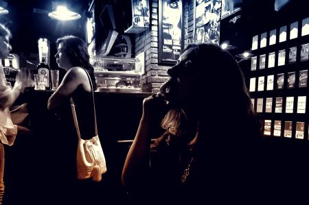 People at a Bar - Dark Looks