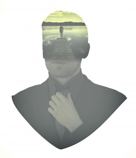 People - Businessman Aspirations - Double Exposure Effect