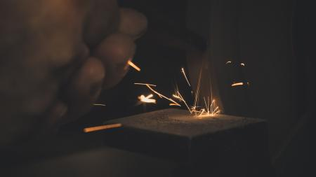 Photo of Hand With Spark