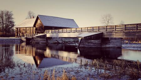 Photo of Wooden House Near the River