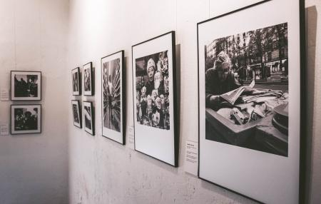 Photography of Grayscale Portraits on Wall