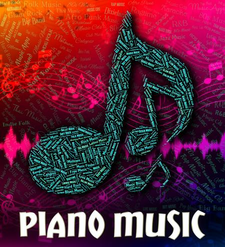 Piano Music Represents Keyboard Harmonies And Melody
