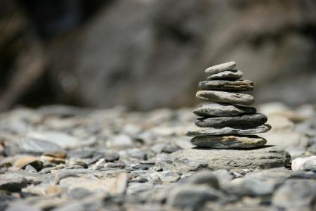 Piled up rocks