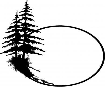 Pine cone silhuette
