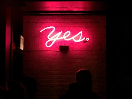 Pink YES Neon Sign