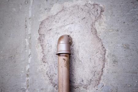 Pipe in wall