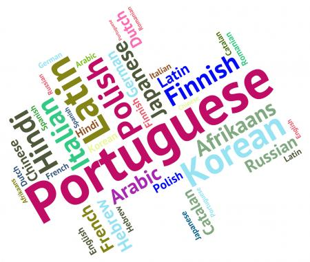 Portuguese Language Represents Portugal Communication And Dialect