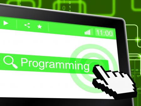 Programming Programmer Represents World Wide Web And Development