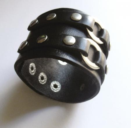 Punk goth wristband