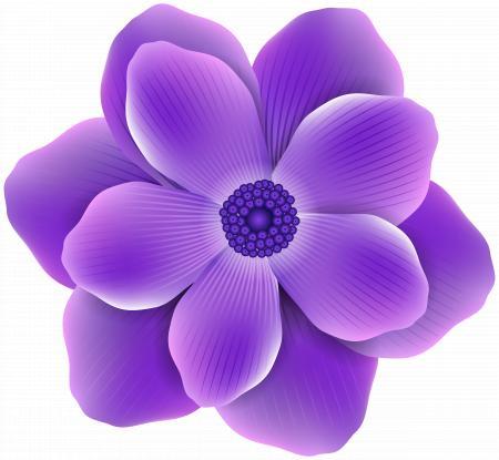 Purple flower clip-art