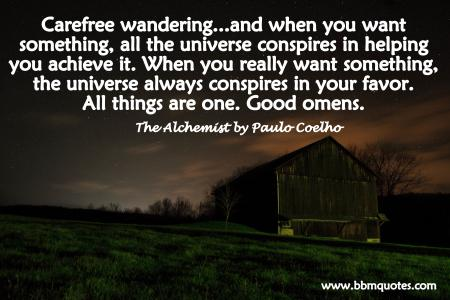 Quote from The Alchemist by Paulo Coelho | All things are one.