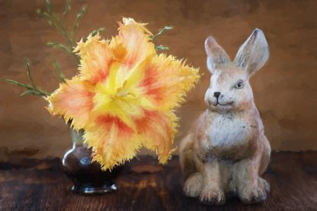 Rabbit n Flower