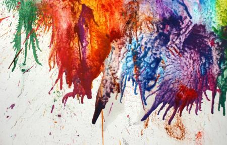 Random Colorful Paint Splat Background