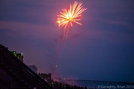 Red Beach Fireworks