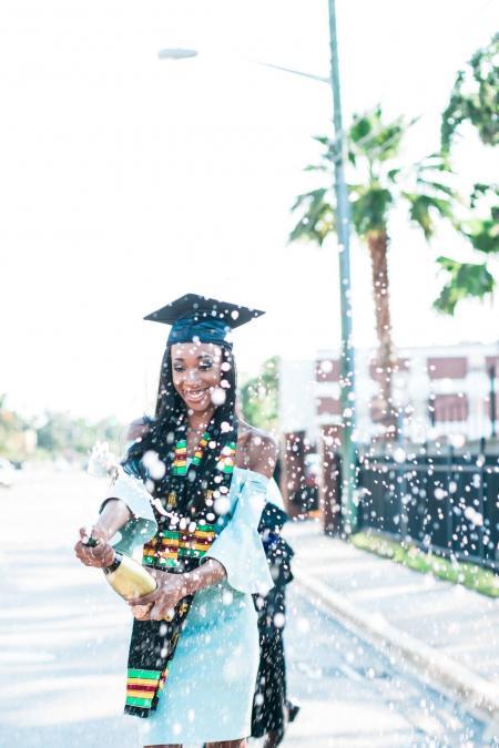 rejoicing graduate