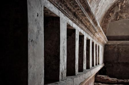 Remains of the public baths in Pompeii,