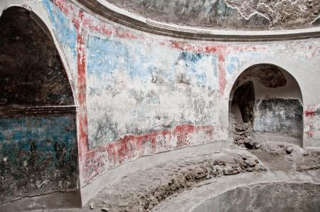 Remains ruin in ancient Pompeii city