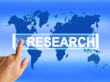 Research Map Represents Internet Researcher or Researched Analyzing
