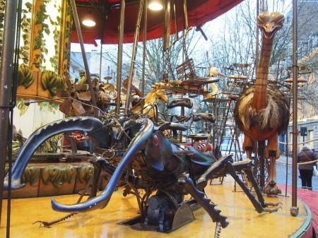 Retro Artistic Merry go round in Brussel