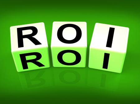 ROI Blocks Mean Financial Return on Investment