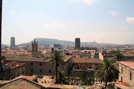 Rooftop view of the city of Barcelona, S