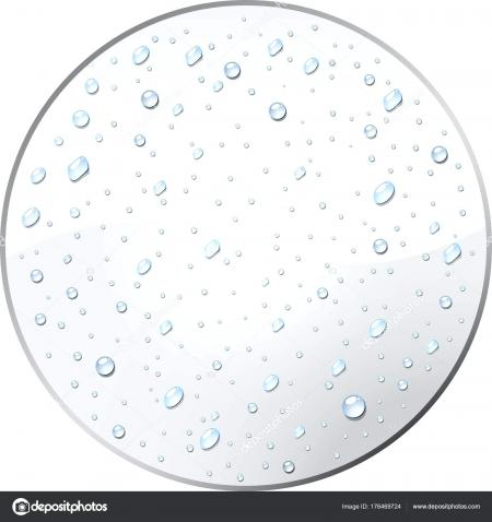 Round Water Droplets