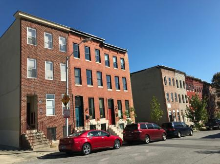 Rowhouses, 300 block of E. Lanvale Street (north side), Baltimore, MD 21202